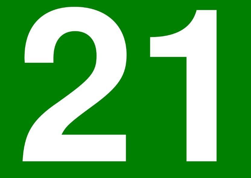 Numerologia: Il significato del numero 21