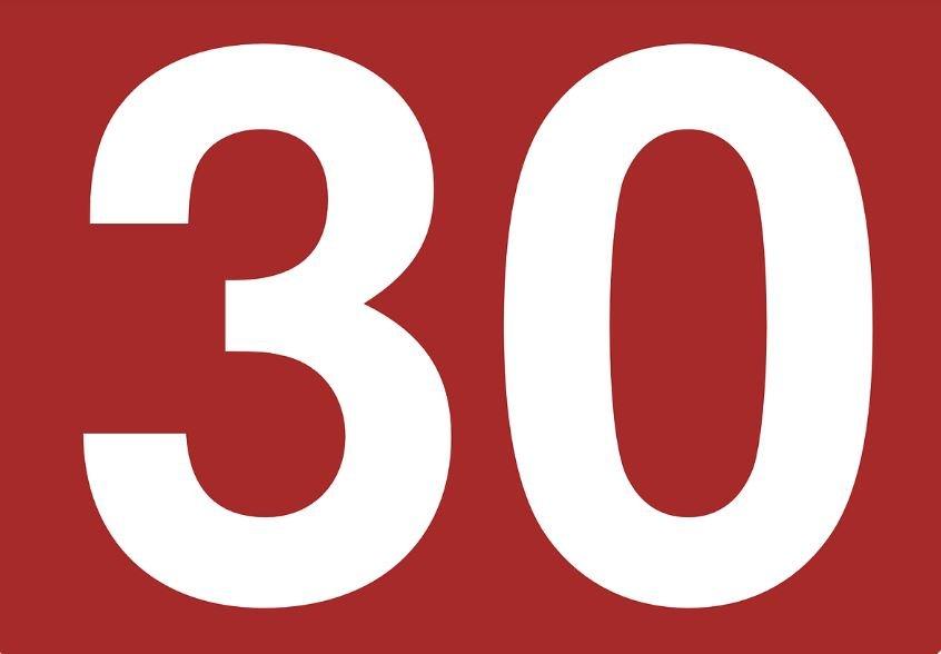 Numerologia: Il significato del numero 30