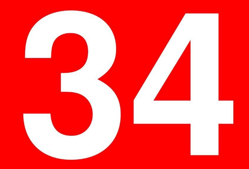 Numerologia: Il significato del numero 34
