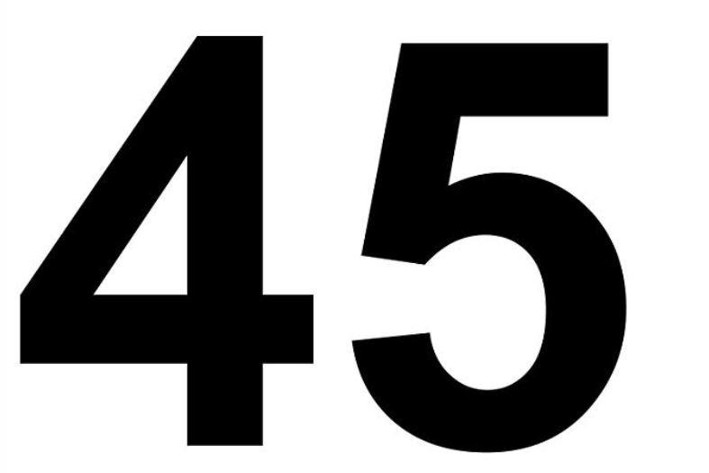 Il significato del numero 45