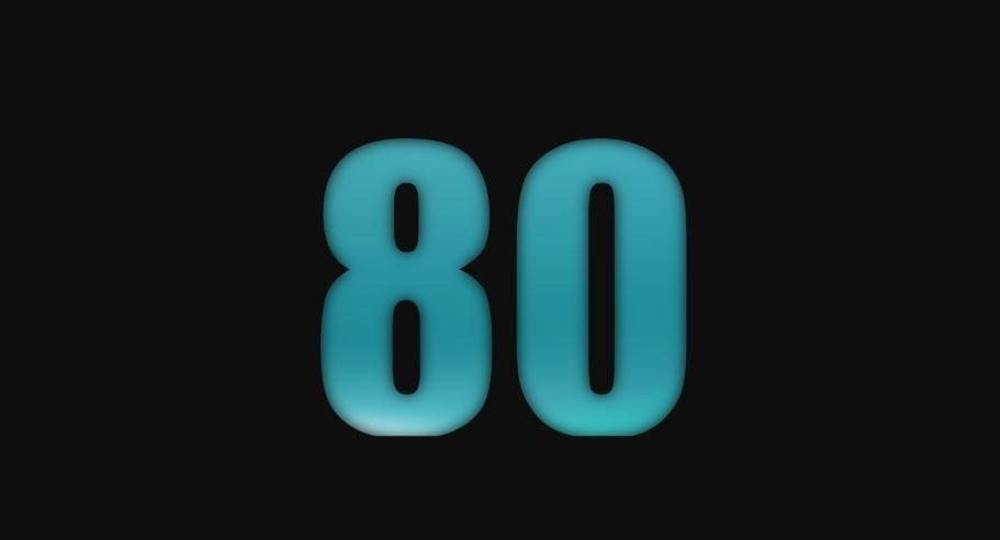 Il significato del numero 80