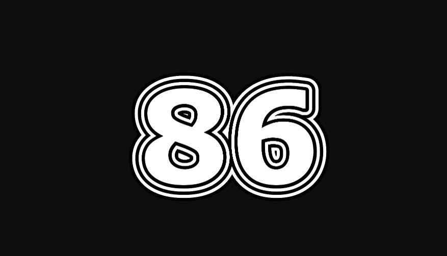 Il significato del numero 86