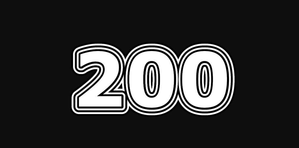 Il significato del numero 200