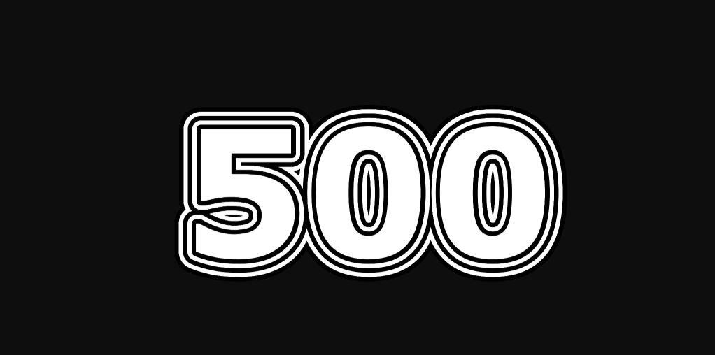Il significato del numero 500