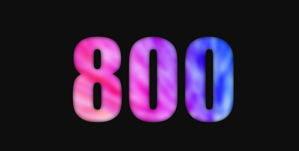 Il significato del numero 800