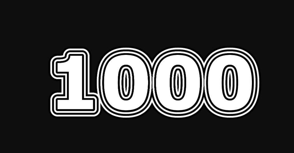 Il significato del numero 1000