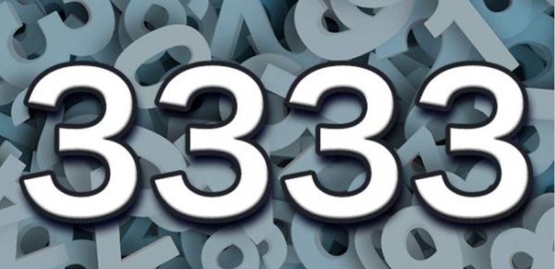 Numerologia: Il significato del numero 3333