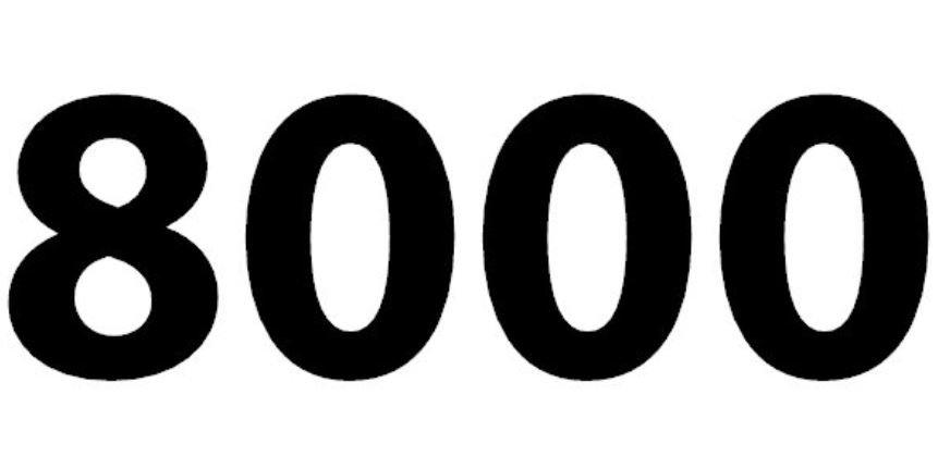 Il significato del numero 8000