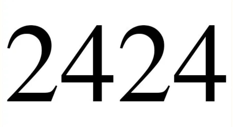 Il significato del numero 2424