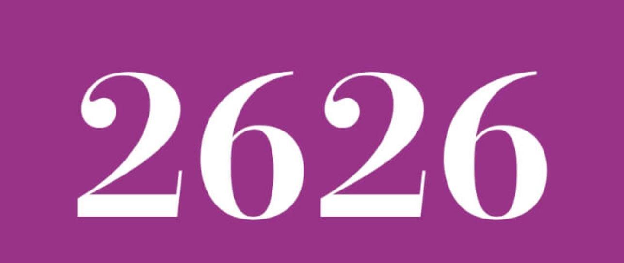 Il significato del numero 2626