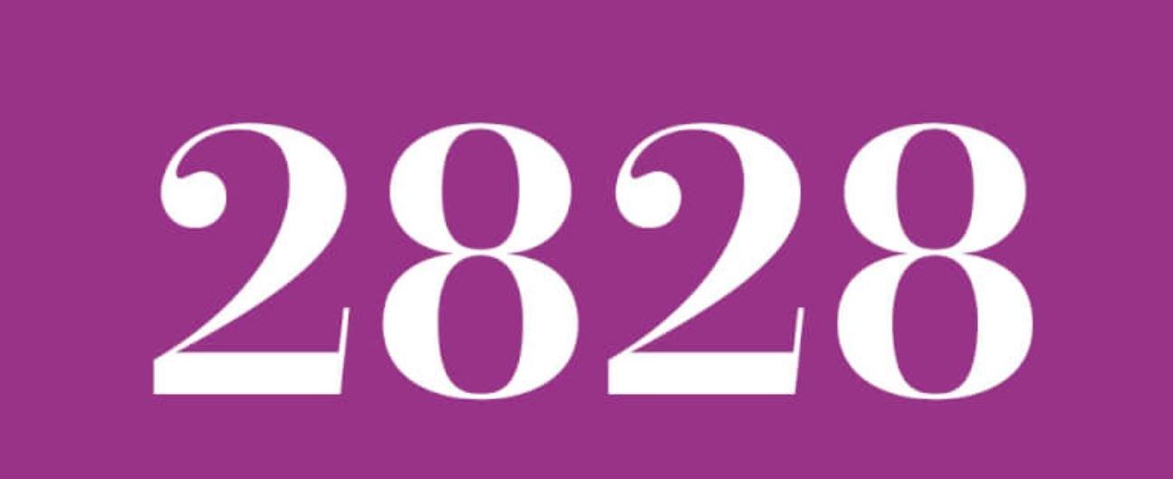 Il significato del numero 2828