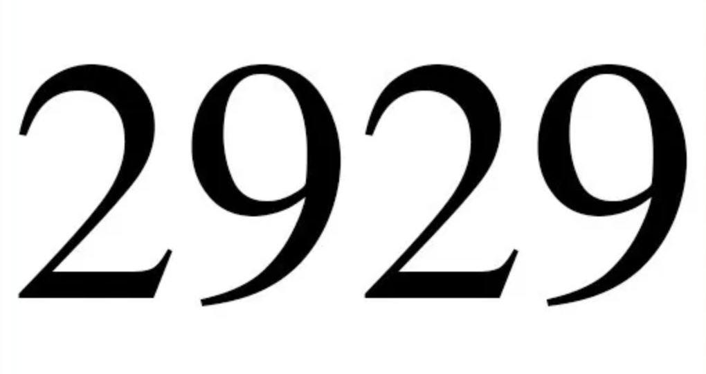 Il significato del numero 2929