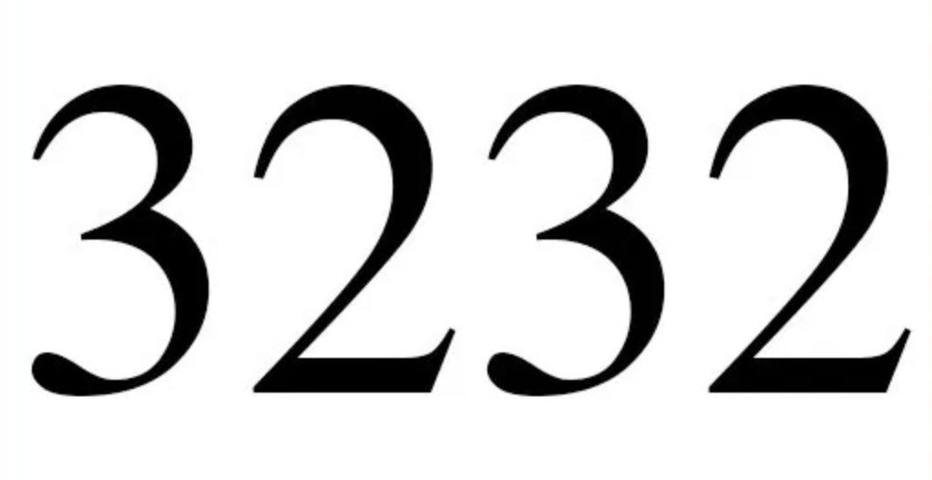 Il significato del numero 3232