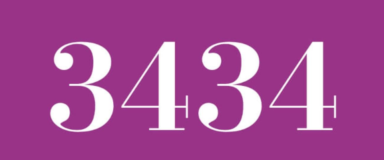 Il significato del numero 3434