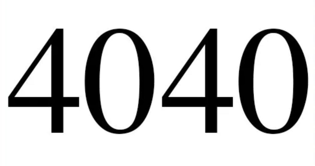 Il significato del numero 4040