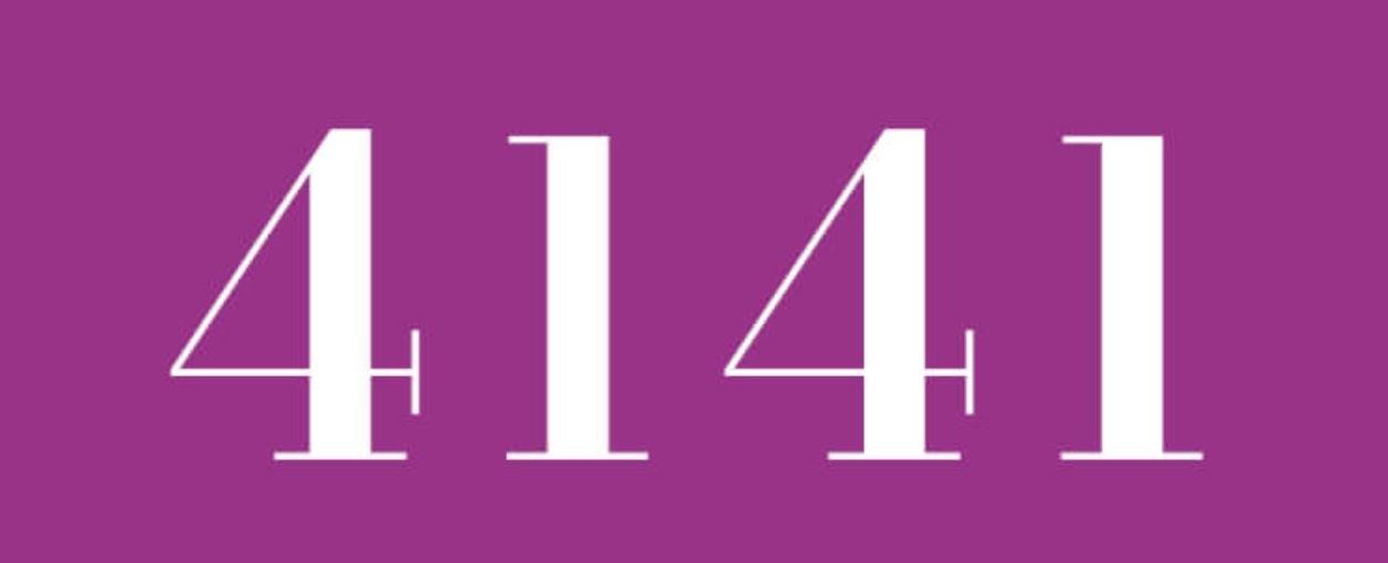 Il significato del numero 4141
