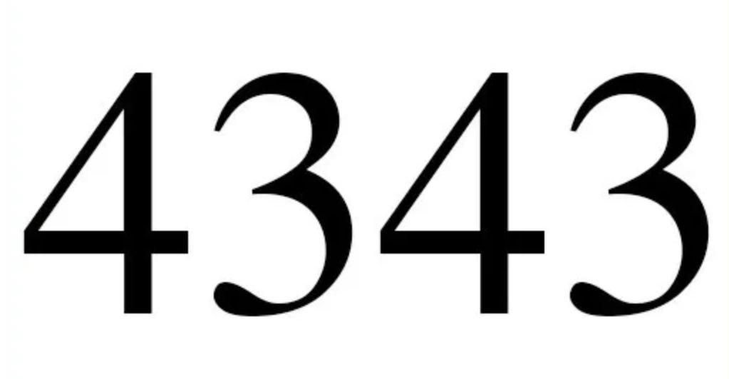 Il significato del numero 4343