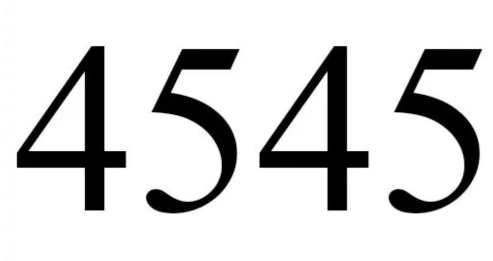 Il significato del numero 4545