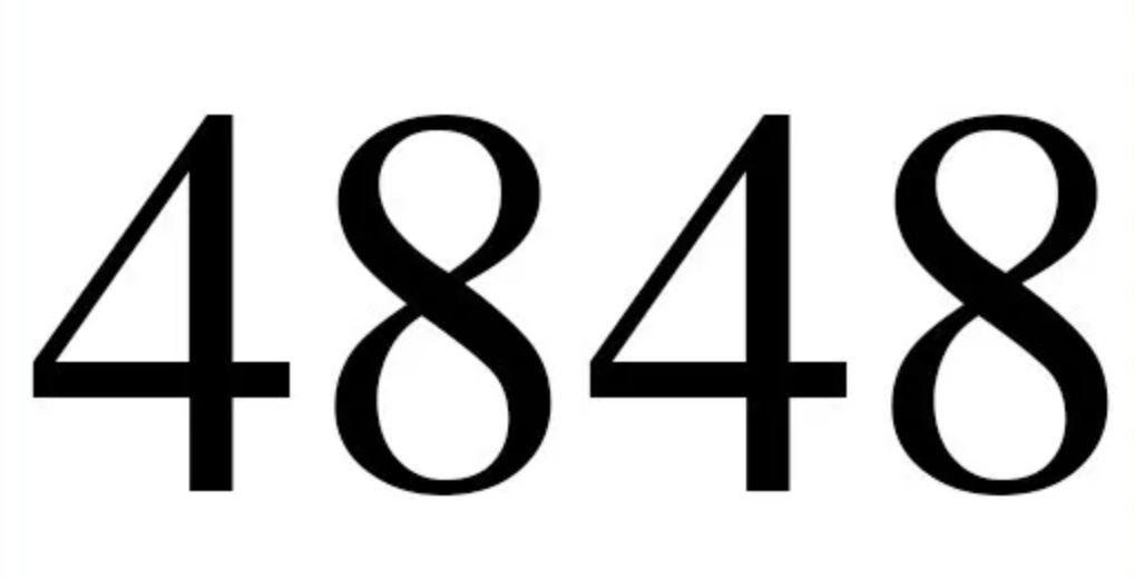 Il significato del numero 4848