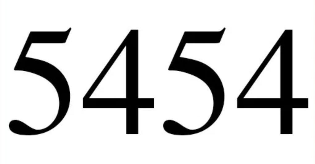 Il significato del numero 5454
