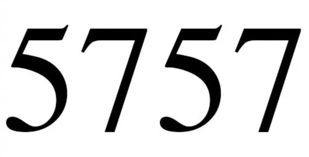 Il significato del numero 5757