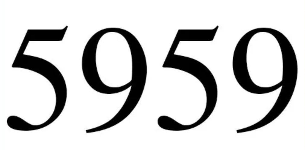 Il significato del numero 5959