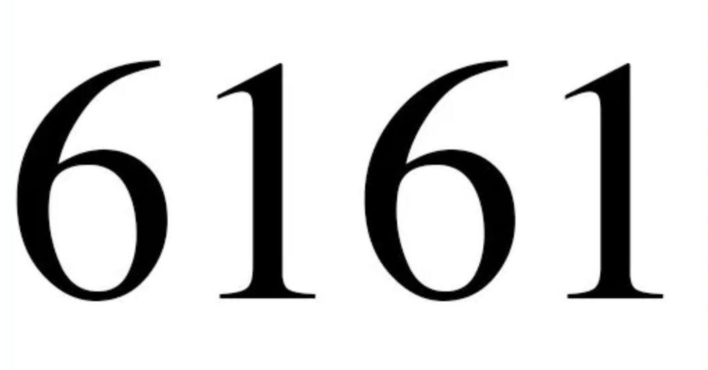 Il significato del numero 6161