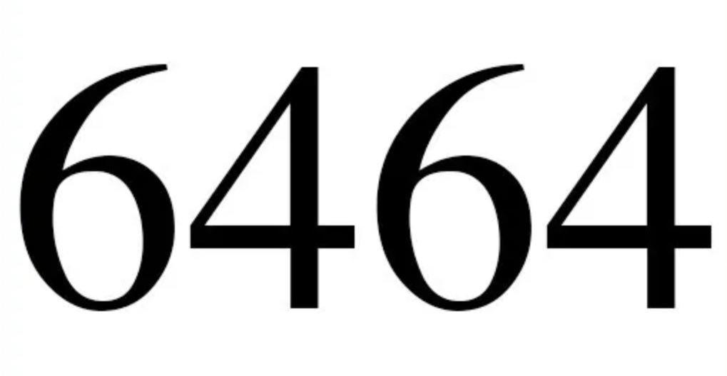 Il significato del numero 6464