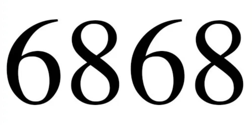 Il significato del numero 6868