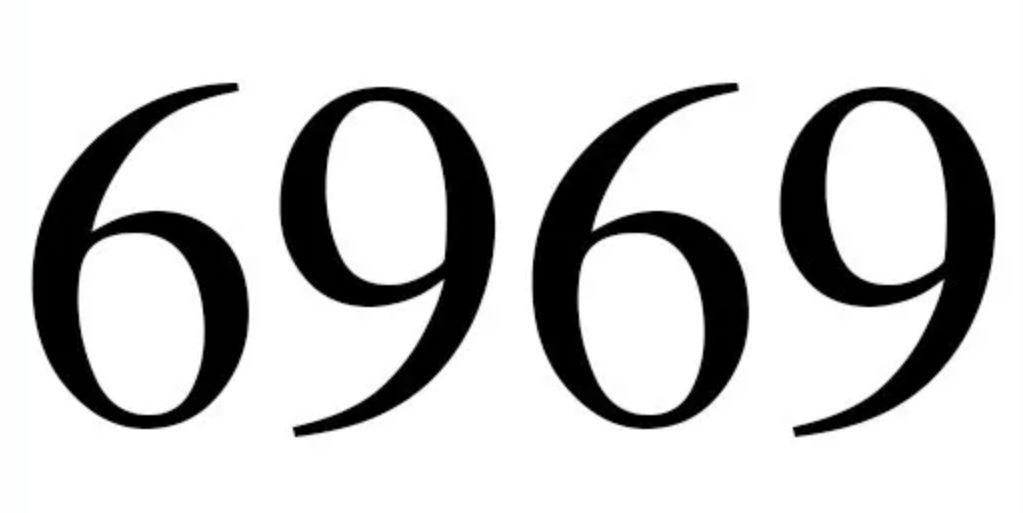 Il significato del numero 6969