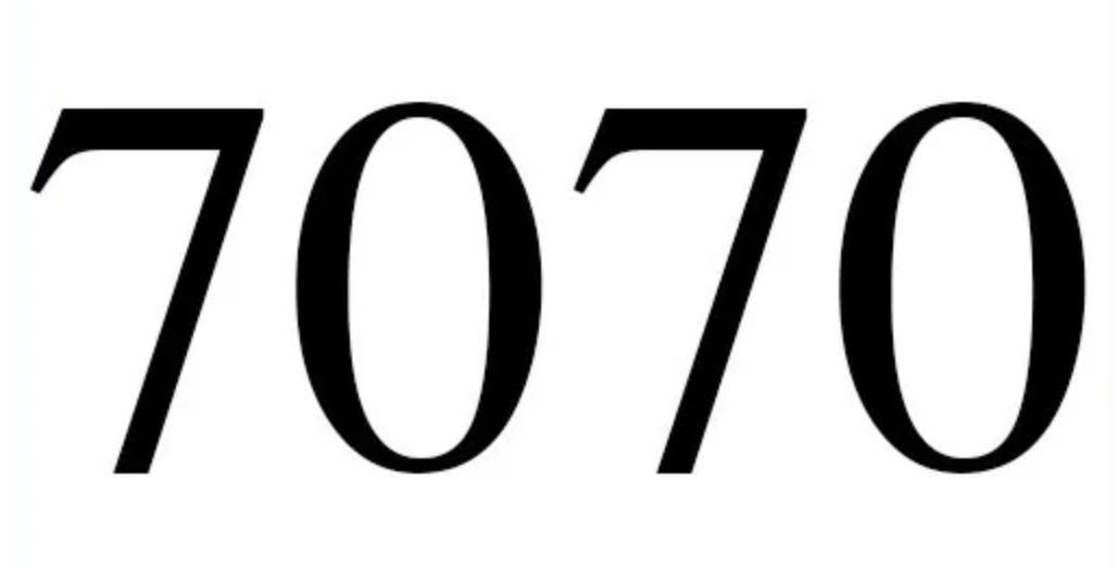 Il significato del numero 7070