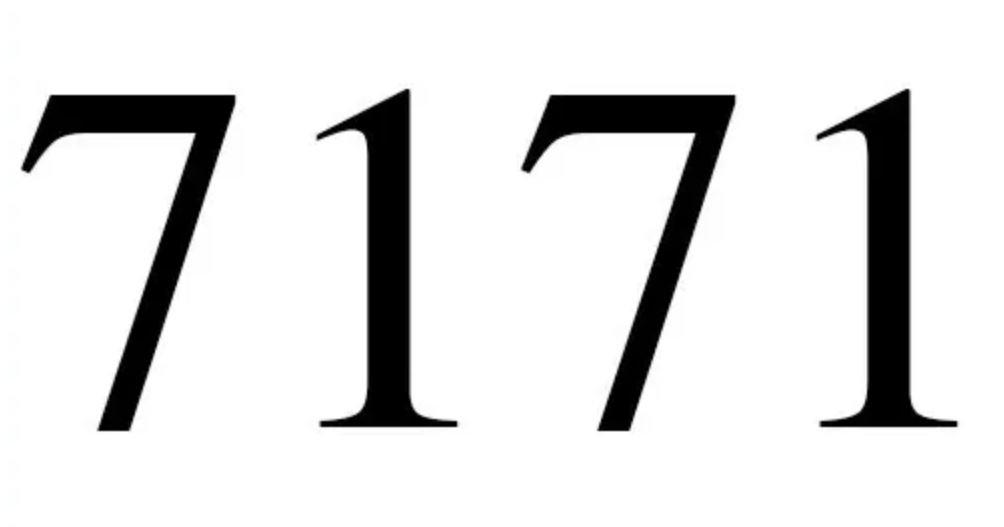 Il significato del numero 7171