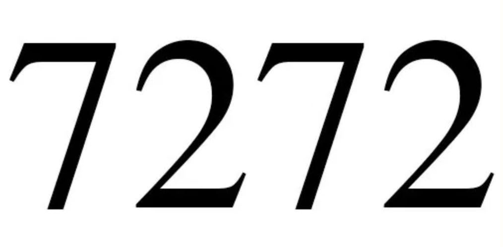 Il significato del numero 7272