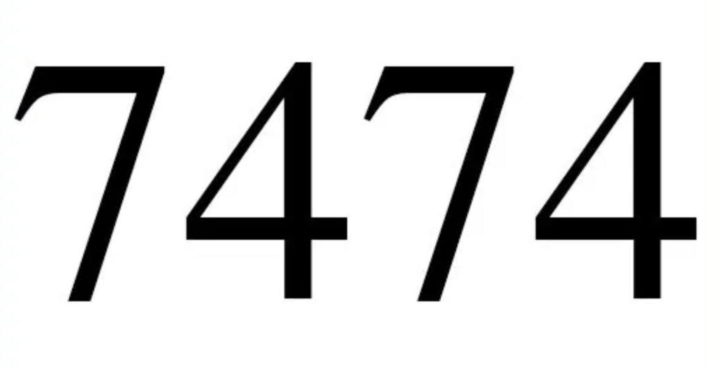 Il significato del numero 7474