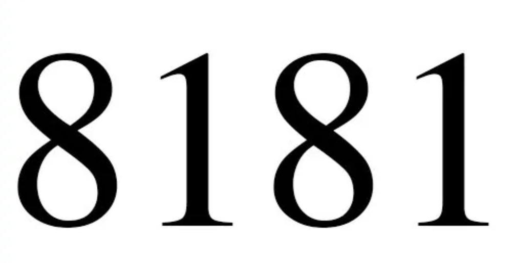 Il significato del numero 8181