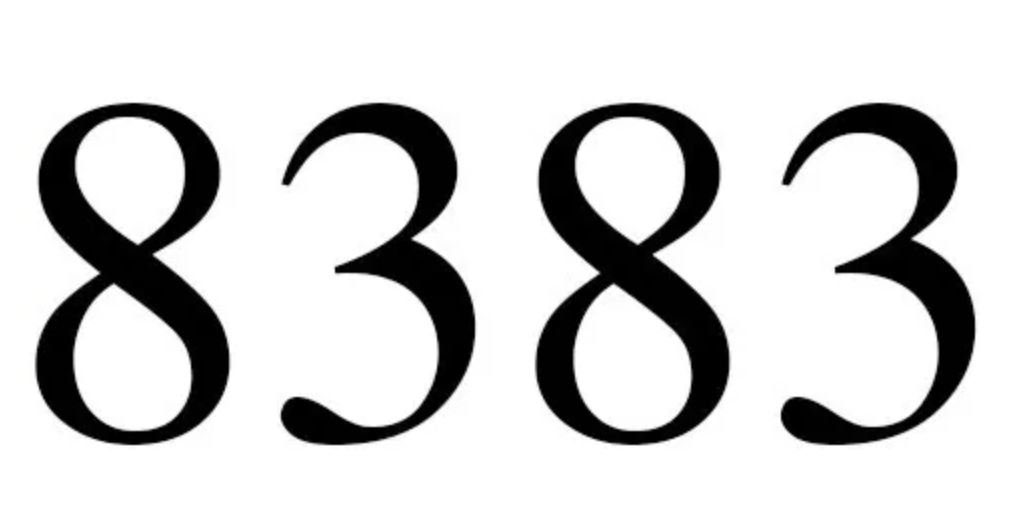 Il significato del numero 8383