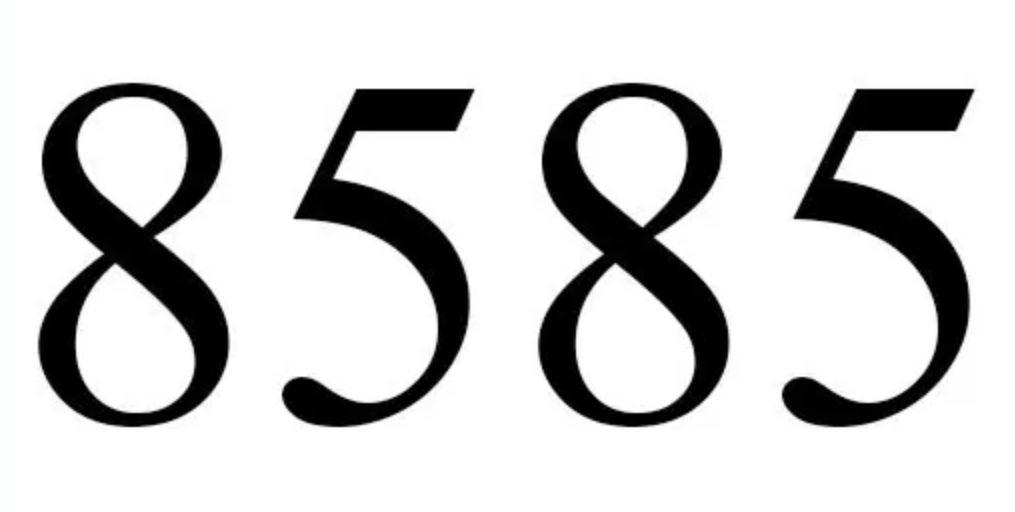 Il significato del numero 8585