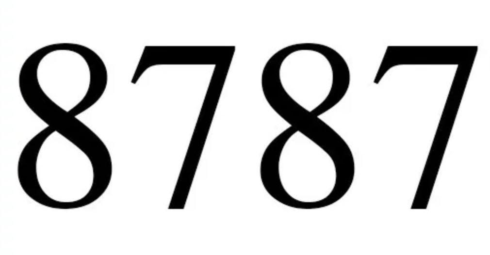 Il significato del numero 8787