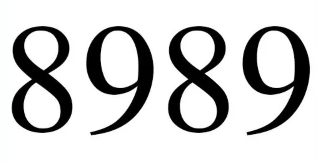 Il significato del numero 8989