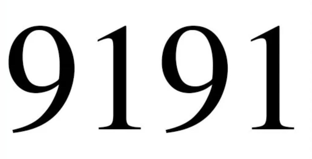 Il significato del numero 9191
