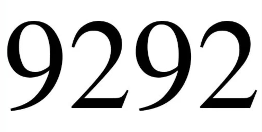 Il significato del numero 9292