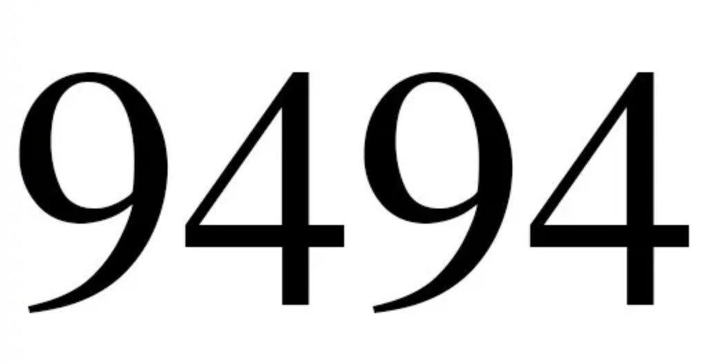 Il significato del numero 9494