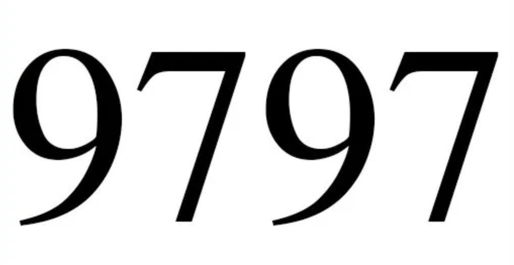 Il significato del numero 9797