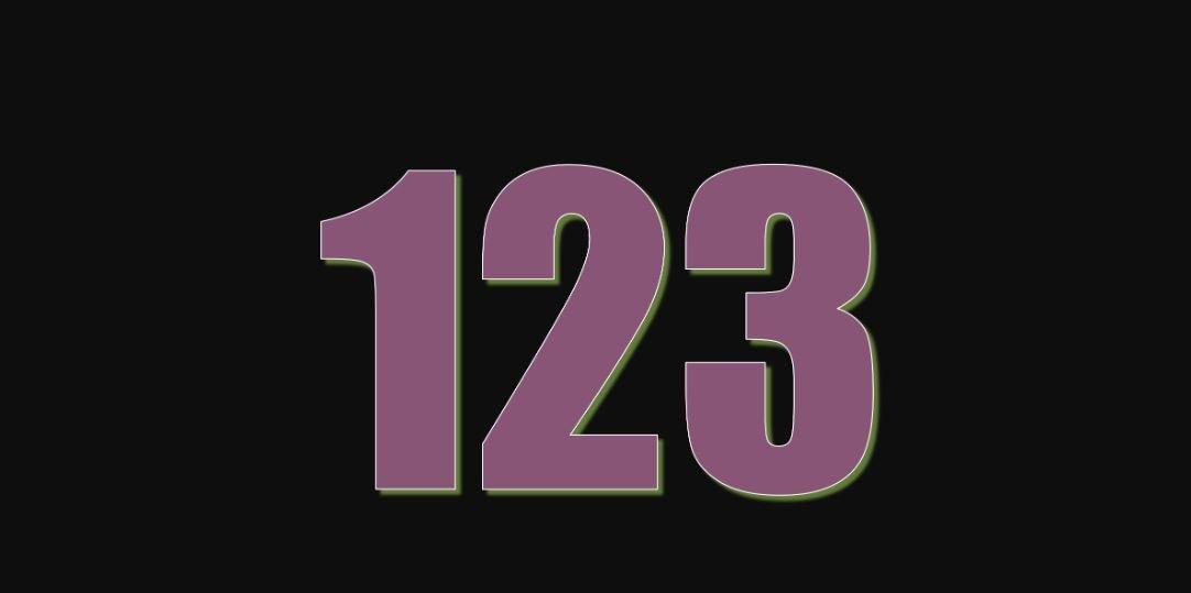 Il significato del numero 123