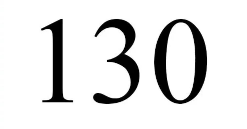 Il significato del numero 130