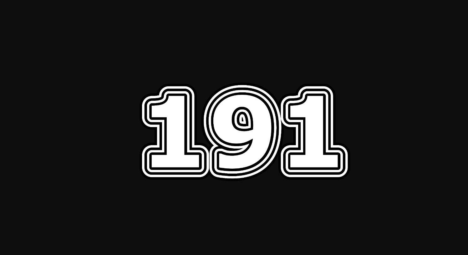 Il significato del numero 191