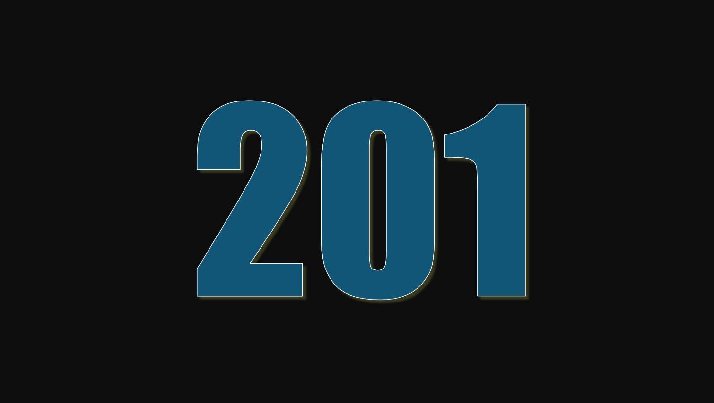 Il significato del numero 201