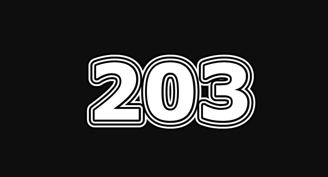 Il significato del numero 203