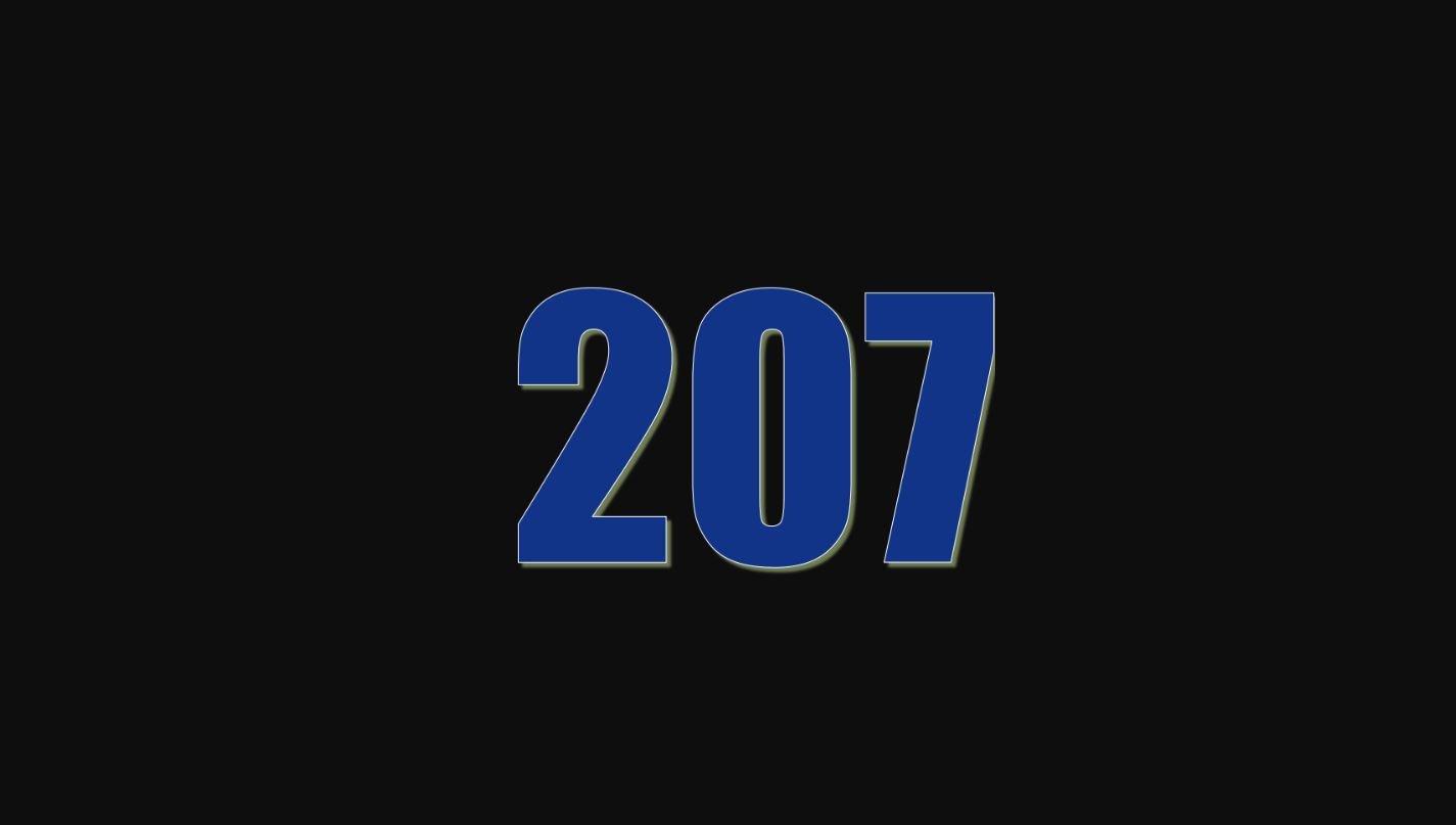 Il significato del numero 207