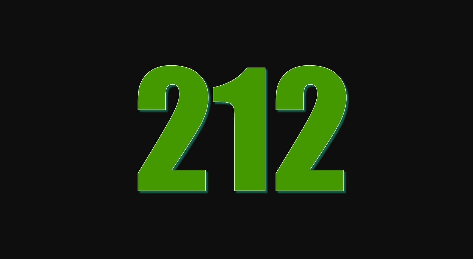 Il significato del numero 212